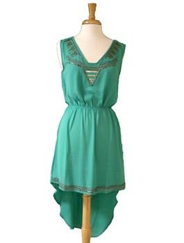 Hi-Lo Beaded Dress