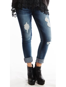 Angry Rabbit: Destroyed Skinny Jeans