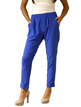 Woven Trousers w/ Draped Pockets