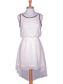 Chain Embellished Hi-Lo Dress