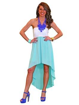 Hi-Lo Lace Tube Dress