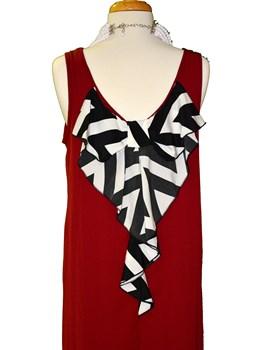 Chevron Bow Back Dress