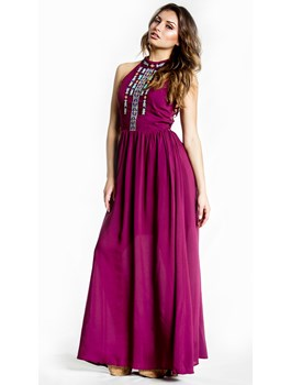 Aztec Embroidered Maxi