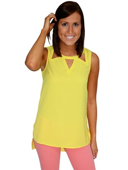 Triangle Cut Out Top