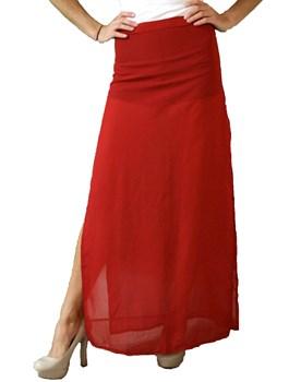 Sheer Slit Maxi Skirt