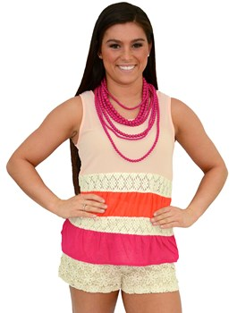 Colorblock Tiered Tank